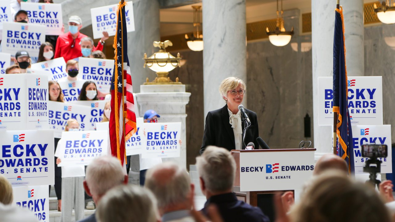 GOP rival Becky Edwards slams Mike Lee as too 'strident,' says Trump was rightfully impeached